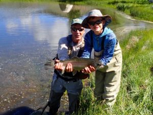 Taylor River Fishing Report July- Boy and Lu